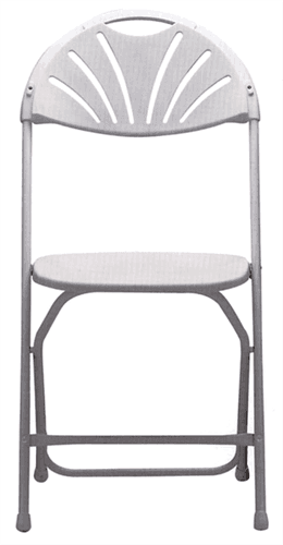 White Resin Fan Back Chair