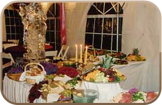 Table of hors d'oeuvres