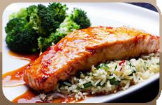Salmon with sauce