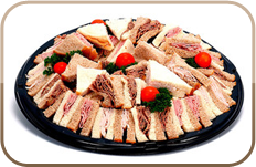 Sandwiches on platter