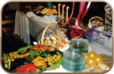 Food table at wedding