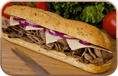Steak sub sandwich