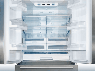 Image of an open refrigerator for Danny's Appliance Service LLC, refrigerator repair in Bergen County, Essex County, Hudson County, Passaic County, NJ.