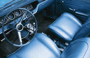 Vintage auto upholstery