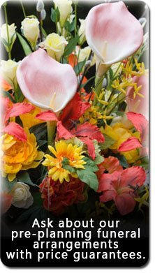 Funeral Service - Fullerton, CA - McAulay and Wallace Mortuary - funeral flowers - Ask about our pre-planning funeral arrangements with price guarantees.