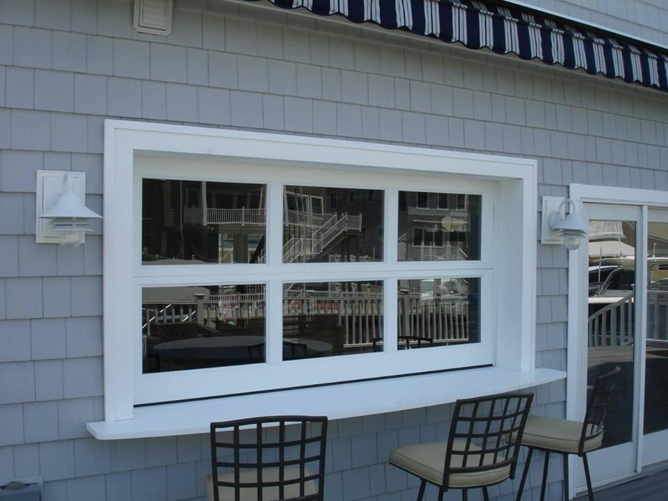 Custom Restaurant Eat-in Dining Door (from outside building)