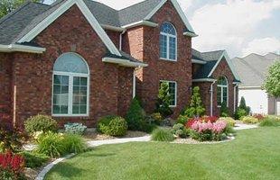 Beautifully manicured lawn