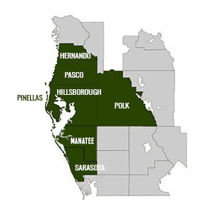 Sun Parrot Pest Services  | Service Area Map