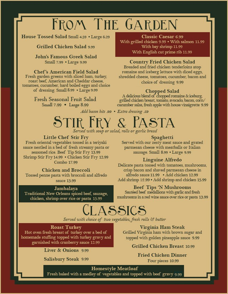 Appetizers Menu | Coatesville, PA | The Little Chef Family Restaurant | 610-384-3221